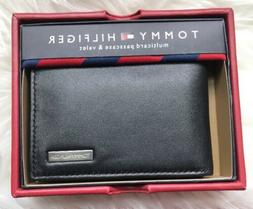 $38 Tommy Hilfiger | Black Two Bill Slots Leather Multicard