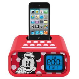 Minnie Mouse Dual Alarm Clock and 30-Pin iPod Speaker Dock,