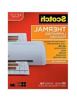 Scotch Thermal Laminating Pouches, 8.9 x 11.4-Inches, 5 mil