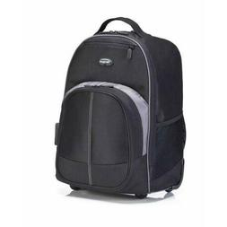 Targus Compact Rolling Backpack for 16-Inch Laptops, Black