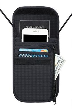 Travelambo Neck Wallet and Passport Holder Travel Wallet wit