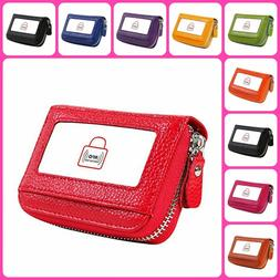 Accordion Wallet W/ RFID Blocking Card And ID Holder And Sof
