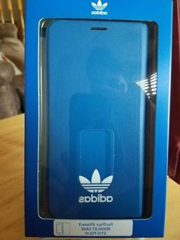 adidas iPhone X booklet iPhone X/XS classic look blue
