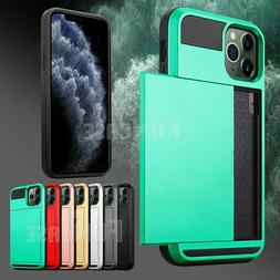 For Apple iPhone 11 Pro Max Wallet Case Credit Card Slim Hol