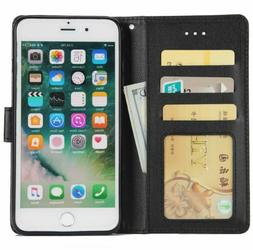 For Apple iPhone 7 8 Plus X XMAX Flip Wallet Case Protective