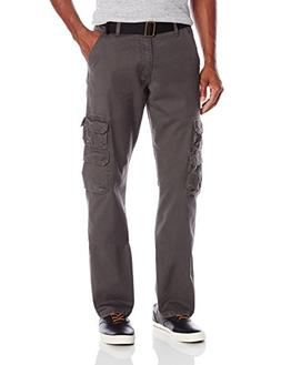 Wrangler Authentics Men's Premium Twill Cargo Pant, Anthraci