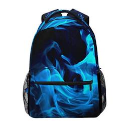 backpack blue flames womens laptop