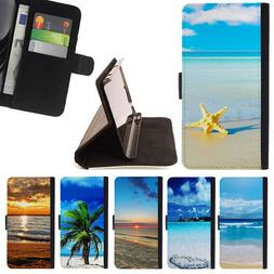 BEACH SAND SUMMER VACATION WALLET CASE COVER FOR LG G5