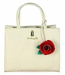Loungefly x Beauty And The Beast Belle Embossed Charm Bag Wh