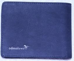 Black Leather Wallet Travelambo Brand, never used