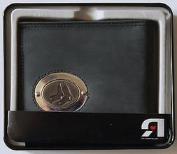 Black Leather Wallet Licensed MLB Boston Red Sox Medallion B