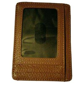 Brand New! Buffway Slim Minimalist Leather Wallet RFID Block
