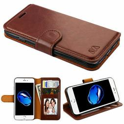 Brown Book Style MyJacket Card Wallet Protector Cover Case f