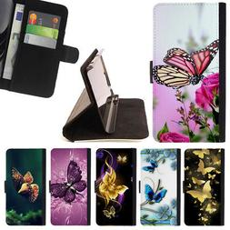 BUTTERFLY BUTTERFLIES WALLET CASE COVER FOR LG G5
