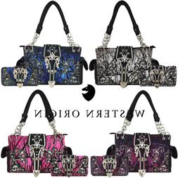 Camouflage Buckle Western Concealed Carry Purse Women Countr