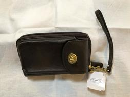 -COACH Campbell  Universal Zip Wallet/Wristlet with attached