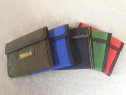 Acumer Canvas 3 Fold Wallet Velcro Close 8 Pockets TriFold C