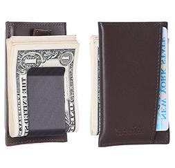Kinzd Carbon Fiber Money Clip Wallet Card Case Secure RFID B