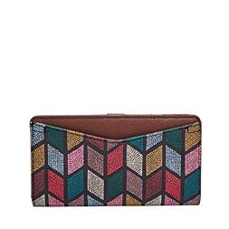 caroline rfid slim bifold wallet fall multi