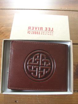 Celtic Knot Conan Men's hand made Leather Wallet, 3 color ch