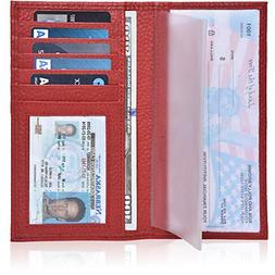 Check Book Cover for Men and Women - Leather Standard Regist