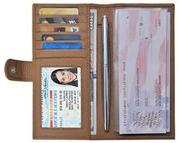 checkbook covers for men and women leather