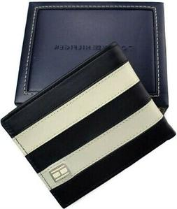 Tommy Hilfiger Classic Mens Leather Passcase Bifold Wallet N