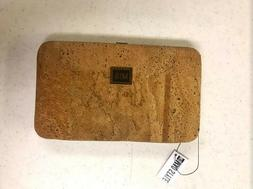 Cork Bi-fold Clutch Wallet with Phone Holder and Strap