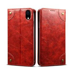 Cover Wallet Compatible with iPhone XR Apple 6.1 inch,Red Le