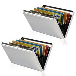 Metal Credit Card Wallet, URAQT Stainless Steel RFID Credit