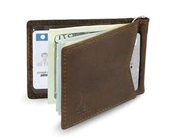 SERMAN BRANDS - Credit Card Holder RFID Blocking Leather Sli