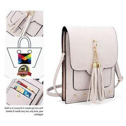 Crossbody Bag for women, Tassel Cell Phone Purse Wallet With