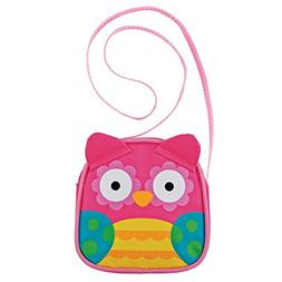 Stephen Joseph Girls' Crossbody Purse, Owl, One Size