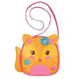 Stephen Joseph Girls' Crossbody Purse, Fox, One Size