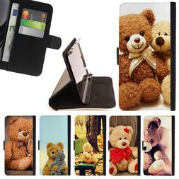 CUTE TEDDY BEAR TOY WALLET CASE COVER FOR LG G5