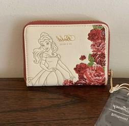 Loungefly Disney Beauty And The Beast Belle Rose Wallet NEW