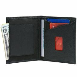 Alpine Swiss RFID Blocking Slim Front Pocket Wallet Leather