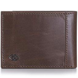 Alpine Swiss Double Diamond Men's RFID Slim Bifold Gray