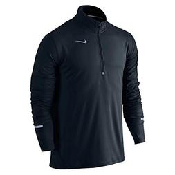 Nike Men's Dri-Fit Element 1/2 Zip Running Shirt w/ Thumbhol