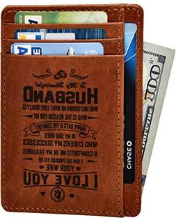 Engraved Husband Son Gift Wallet - Personalised Gifts for Fa