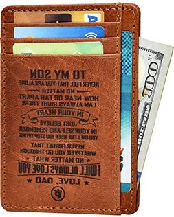 Engraved Husband Son Gift Wallet - Personalized Unique Chris