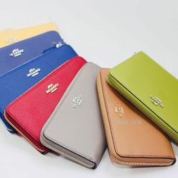 Coach F16612 Accordion Zip Wallet In Polished Pebble Leather