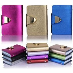 Fashion Case Wallet ID Credit Card Holder Purse For 26 Cards