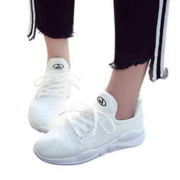 Londony Fashion Sneakers 815, Women's Breathable Lace Up Sol