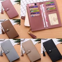 Fashion Women's Soft Leather Durable Slim Wallets Long Bifol