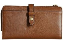 Fossil Fiona Multifunction Women's Leather Clutch - Brown