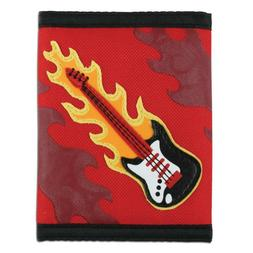 FLAMING GUITAR ROCK ROLL WALLET FOR THE COOL KIDS BOY GIRL C