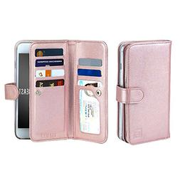 Gear Beast Dual Folio Wallet Case Slim Protective Leather fo