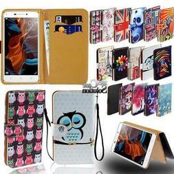 Flip Leather Card Wallet Stand Cover Phone Case For Lenovo S