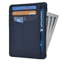 Front Pocket Slim Wallets for Men with RFID - Genuine Leathe